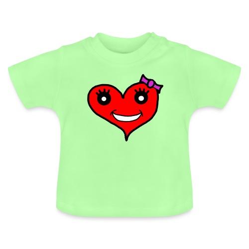 Herz Smiley Schlaufe - Baby T-Shirt