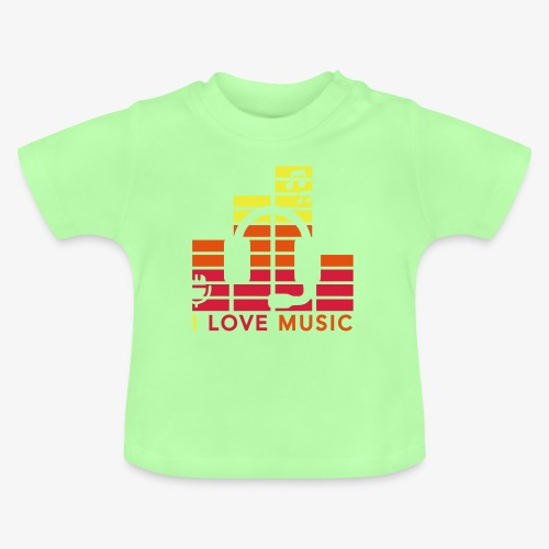 I love music Illustration Musik Drummershirts.de - Baby T-Shirt