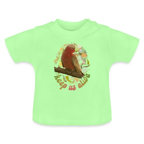 Galah Parrot Keep Us Alive 70s background - Baby T-Shirt