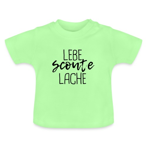 Lebe Scoute Lache Lettering Brush - Farbe wählbar - Baby T-Shirt