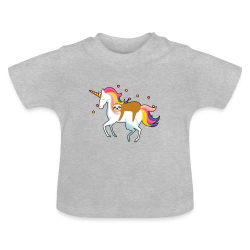 Funny Sloth Riding Unicorn - Baby T-Shirt