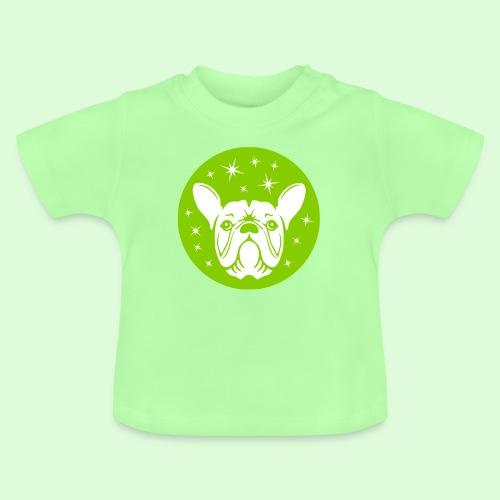 Face de Bouledogue Français dans les étoiles - T-shirt Bébé
