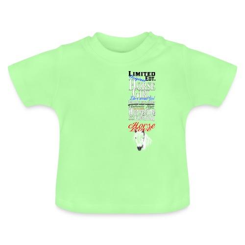 Limited Edition HorseGirl Pferdemädchen Pferde - Baby T-Shirt