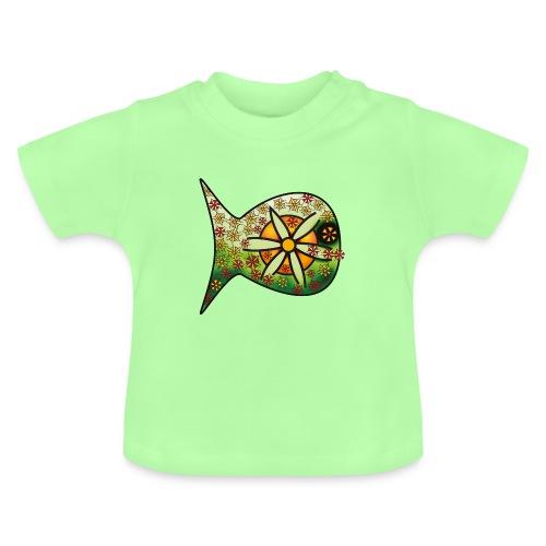 Blüten Fischdesign - Baby T-Shirt