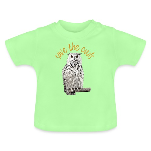 Snowy Owl Save the Owls Photo Art - Baby T-Shirt