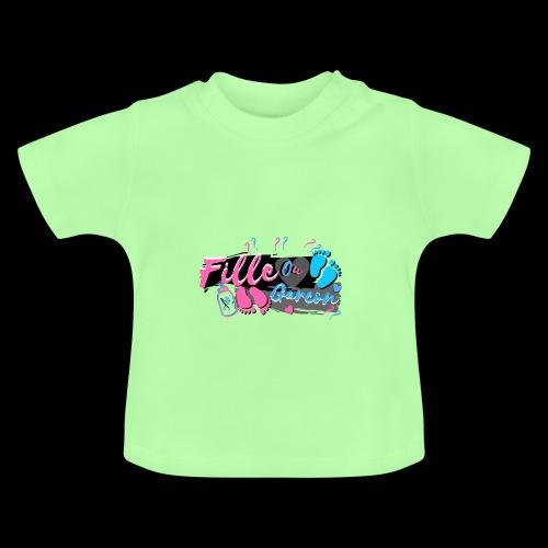 fille ou garçon femme enceinte bébé naissance - T-shirt Bébé