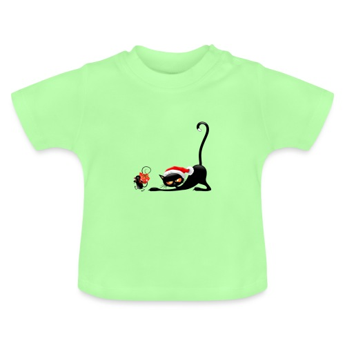Cat chases mouse - Baby T-Shirt