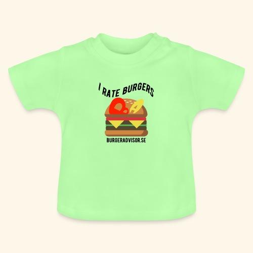 I Rate Burgers logo dark - Baby T-Shirt