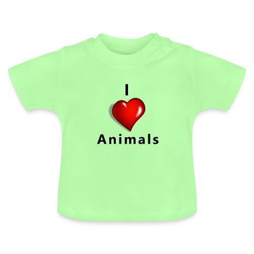 i love animals - Baby T-shirt