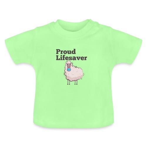 Schlafschafe retten Leben mit Mundschutz - Baby T-Shirt