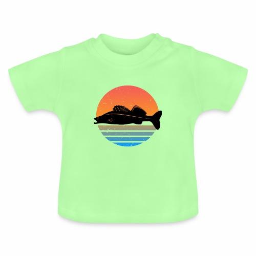 Retro Zander Angel Angler Raubfisch Geschenk Fisch - Baby T-Shirt