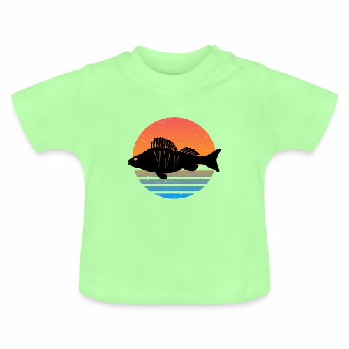 Retro Barsch Angeln Fisch Wurm Angler Raubfisch - Baby T-Shirt