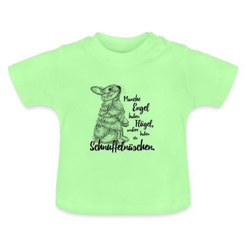 Kaninchen Hasen Zwergkaninchen Engel Liebe - Baby T-Shirt