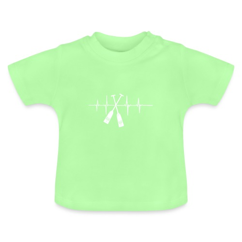 Drachenboot Paddel EKG Herzschlag - Baby T-Shirt