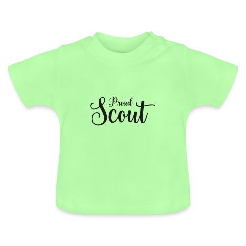 Proud Scout Lettering Black - Baby T-Shirt