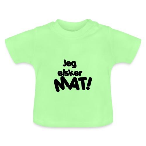 Jeg elsker mat - Baby-T-skjorte