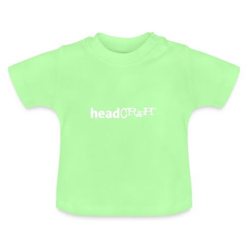 headCRASH Logo white - Baby T-Shirt