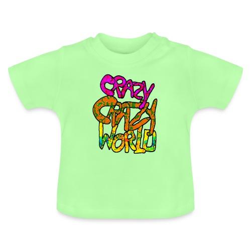 kleurige crazy crazy world - Baby T-shirt