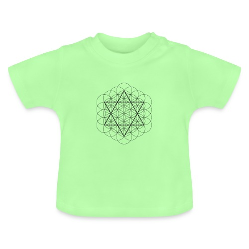 Flower of life and David Star - Baby T-shirt