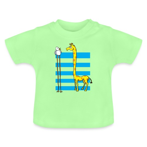La girafe et l'échassier - T-shirt Bébé