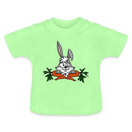 Lapin avec carottes, végétarien, végan - T-shirt Bébé