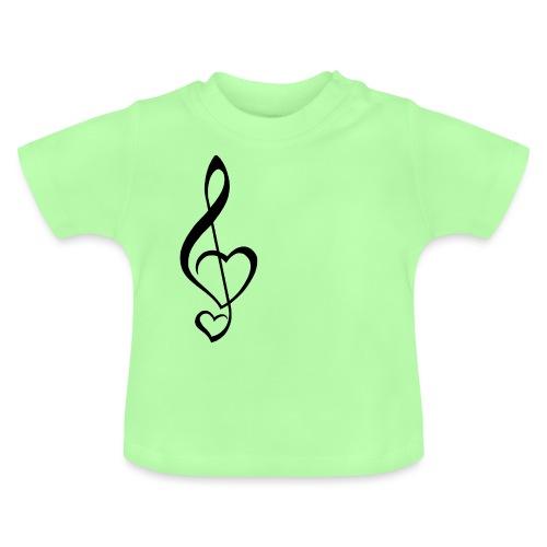 Notenschlüssel schwarz/Music-Lover - Baby T-Shirt
