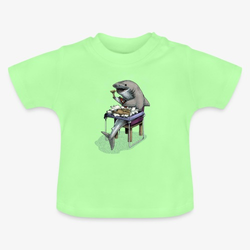 Shark's Fish and Chip dinner - Baby T-Shirt