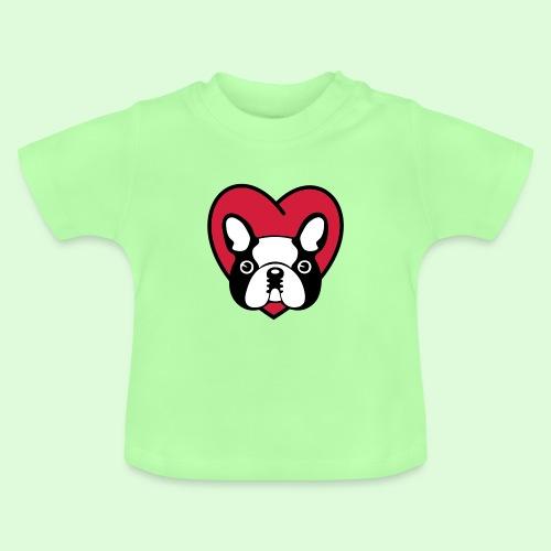 Cœur de Bouledogue Français - T-shirt Bébé
