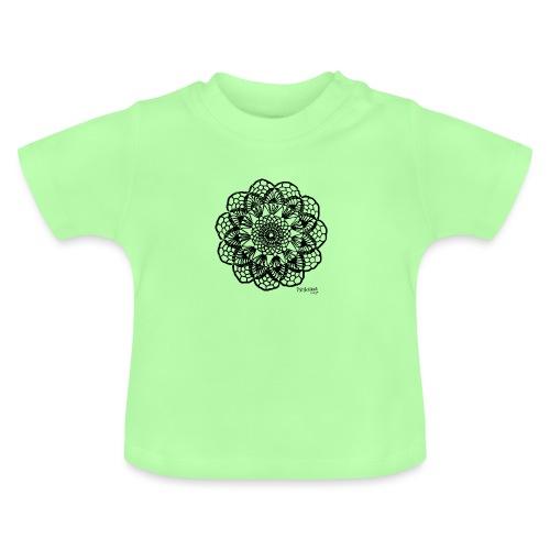 Grannys flower, musta - Vauvan t-paita