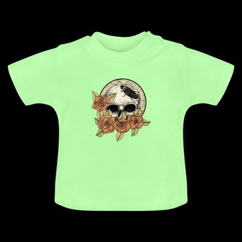 Rose et tête de mort - T-shirt Bébé