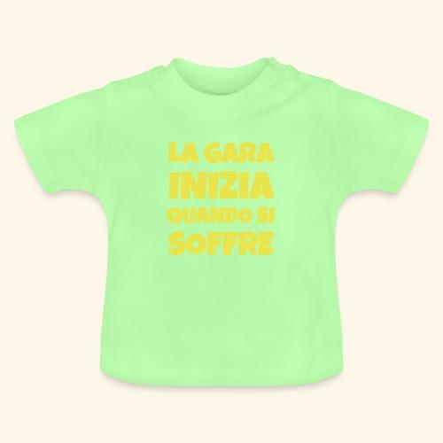 Frase Ironica - La Gara Inizia - FLAT - Maglietta per neonato