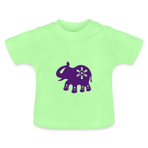 Indischer ELEFANT - Baby T-Shirt