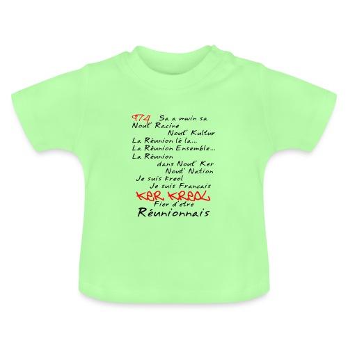 Kosement kreol - 974 La Réunion - T-shirt Bébé