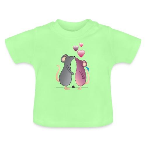 ratones3 - Camiseta bebé