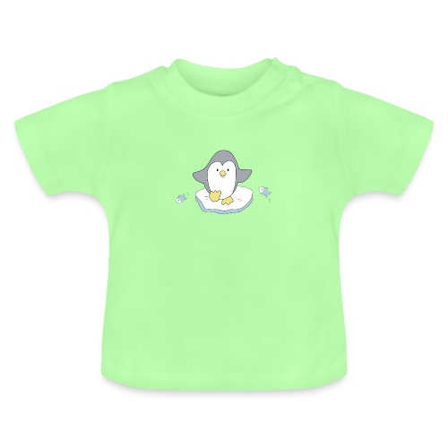 Penguin and fish - Baby T-Shirt