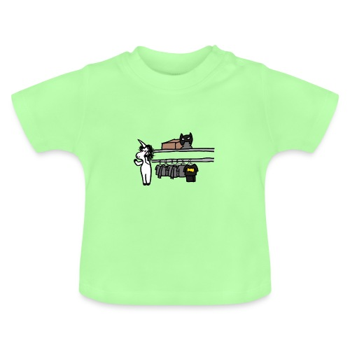 Unicorn parla al telefono - Maglietta per neonato