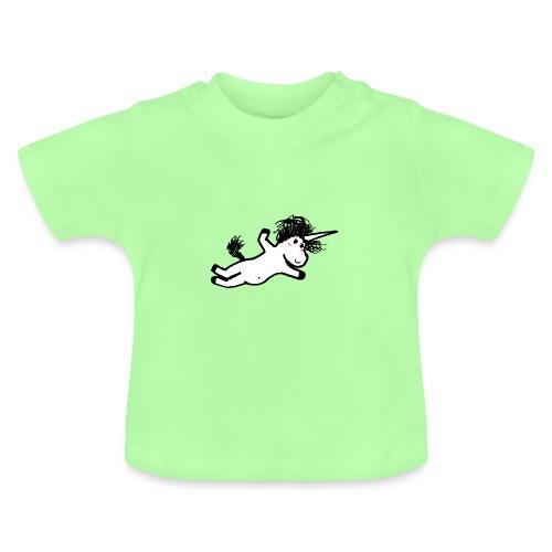 unicorno che si lancia sul nulla - Maglietta per neonato