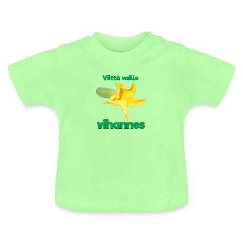 Viittä vaille vihannes, avomaankurkku - Vauvan t-paita