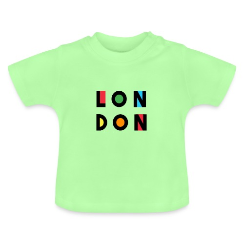 Vintage London Souvenir - Retro Modern Art London - Baby T-Shirt