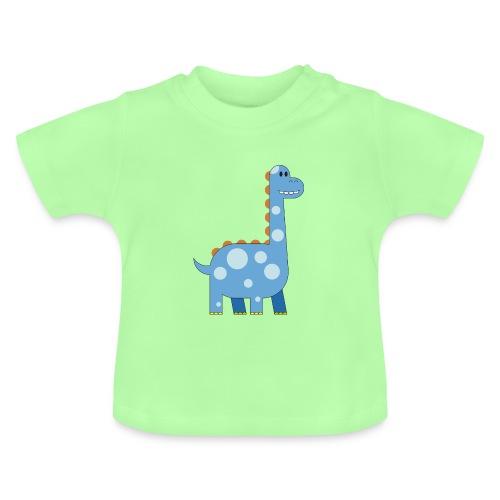 fröhlicher Dinosaurier Kuscheltier Kind süß Urzeit - Baby T-Shirt