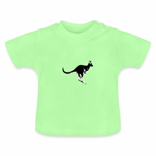 Känguru in schwarz weiss - Baby T-Shirt