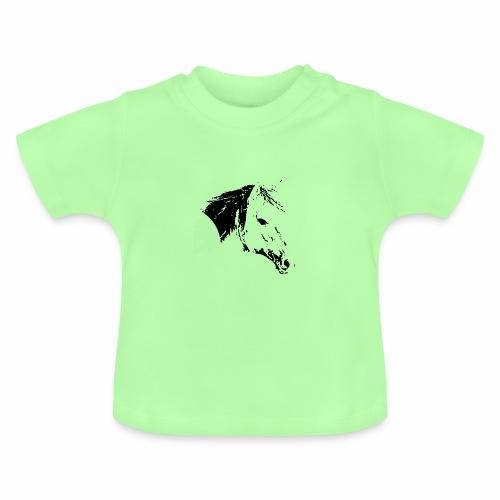 Pferd als schwarze Silhuette - Baby T-Shirt