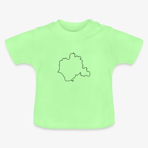 Kontur des Kreises Lippe - Baby T-Shirt