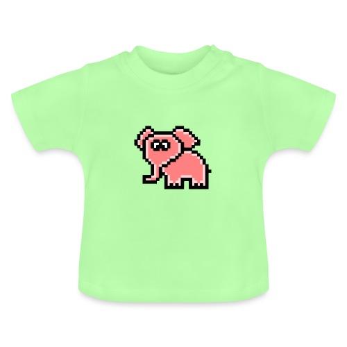Elefant rosa - Baby T-Shirt