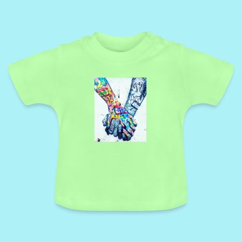 Main dans la main tatoués - T-shirt Bébé