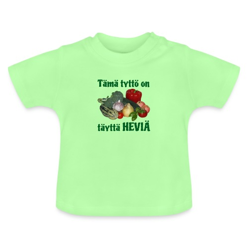Tyttö täyttä heviä - Vauvan t-paita