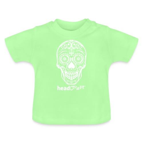Skull & Logo white - Baby T-Shirt