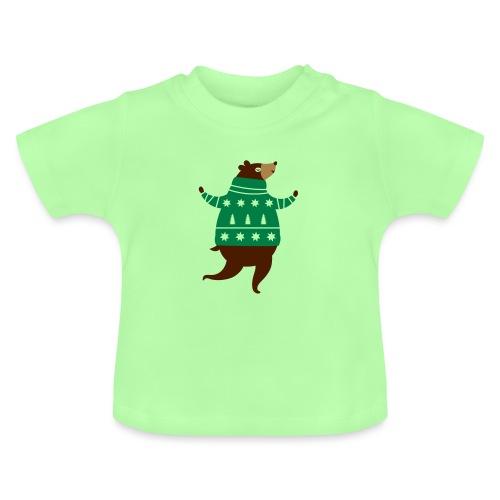 Ours avec un pull-over - T-shirt Bébé