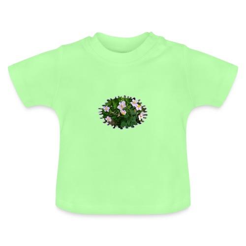 Blümchen hellviolett - Baby T-Shirt