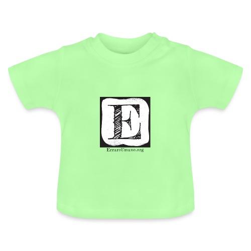 Logo ErrareUmano (scritta nera) - Maglietta per neonato